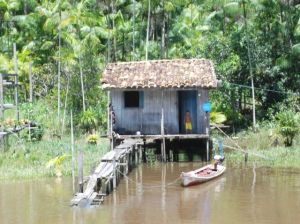One of the river houses we motored by
